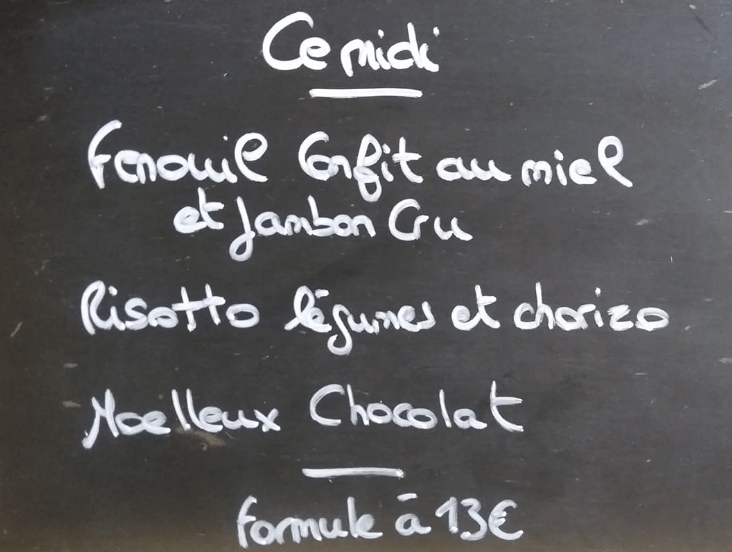 menu Machezal