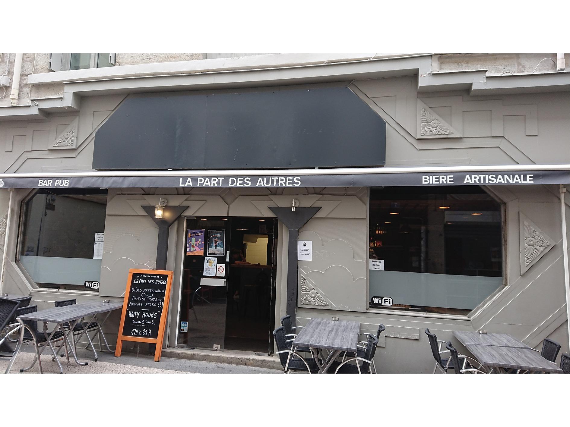 Devanture Brew Pub Saint Etienne la Part Des Autres
