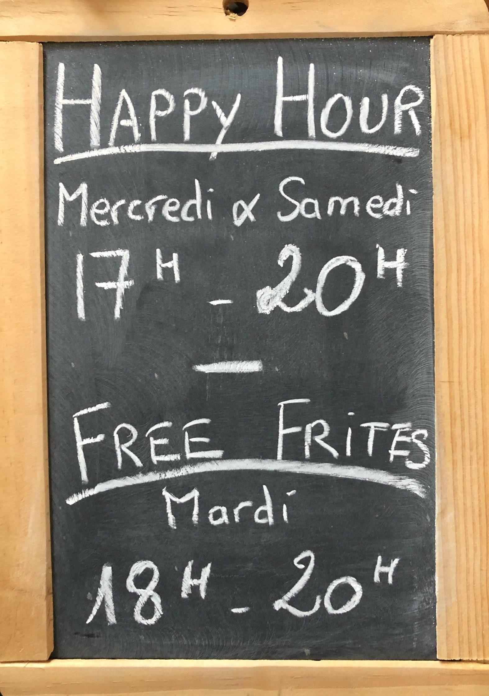 Happy Hour Free Frites Brew Pub Saint Etienne La part Des Autres