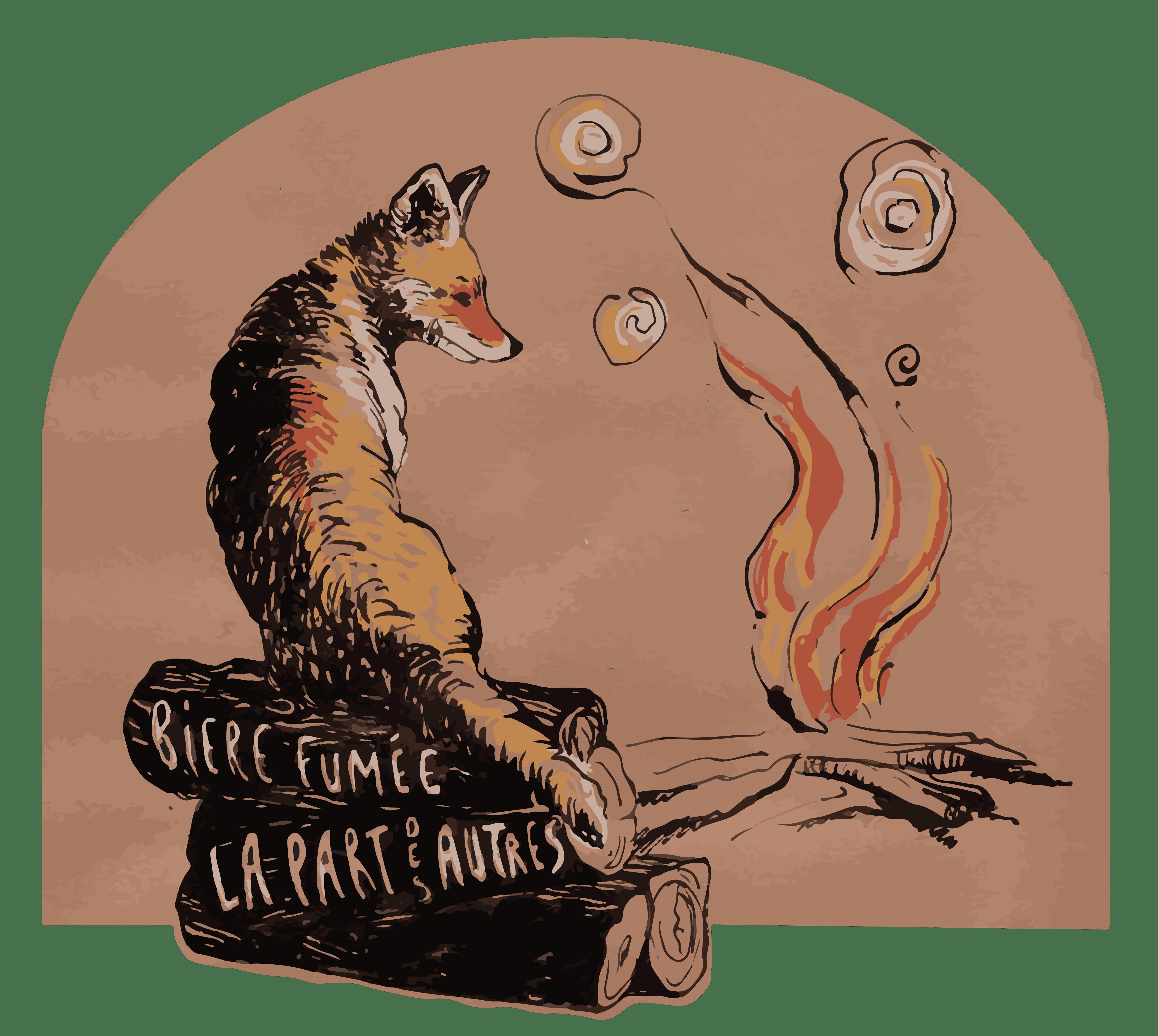 Lou Olivers Etiquette bière Rousse Fumée La Part Des Autres